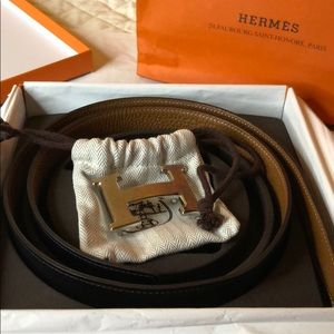 Hermes Accessories - Hermès reversible Belt With Silver H 95